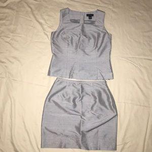 Vintage Ann Taylor Matching Silk Top and Skirt Set